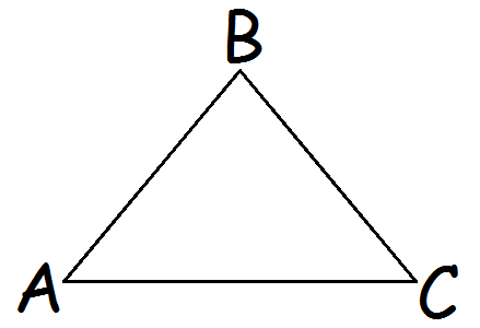 trekant med et par
