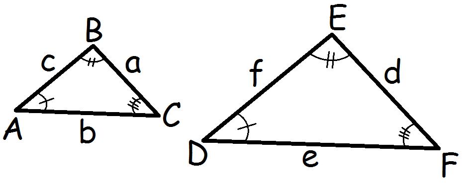 ensvinklede trekanter
