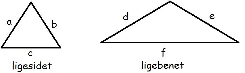 arealet af en ligesidet trekant
