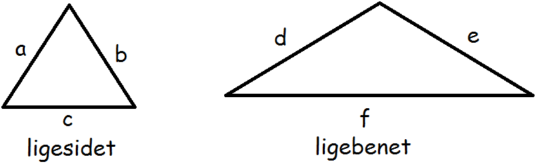 en ligesidet trekant