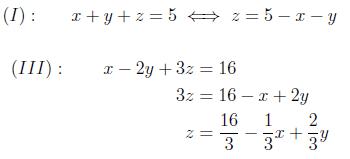 ligning med 3 ubekendte