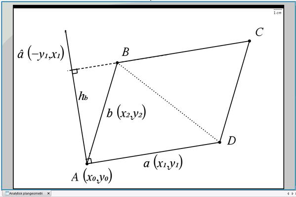 areal af parallelogram trekanter udsp ndt af to vektorer s rligt for htx analytisk. Black Bedroom Furniture Sets. Home Design Ideas